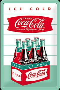 Coca Cola Carton embossed steel sign   (na 3020)